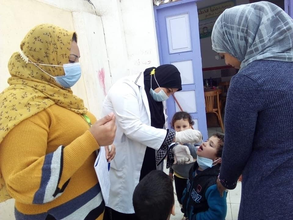 استمرار حملة تطعيم الاطفال بكفر الشيخ