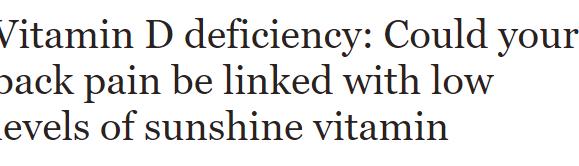 المضاعفات الناتجة عن نقص مستويات فيتامين د