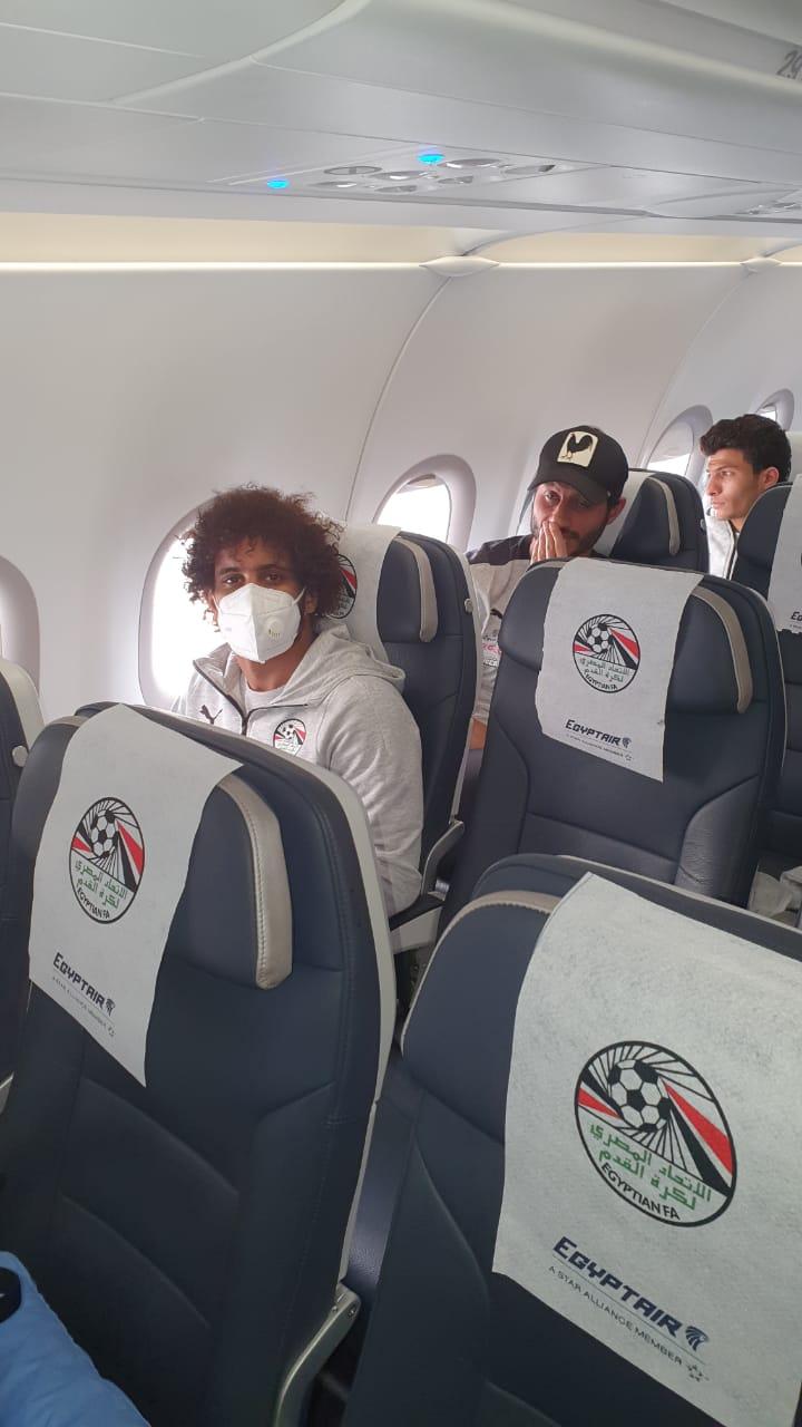 بعثة المنتخب الوطني تطير إلى نيروبي علي متن رحلة خاصة لمصر للطيران (2)