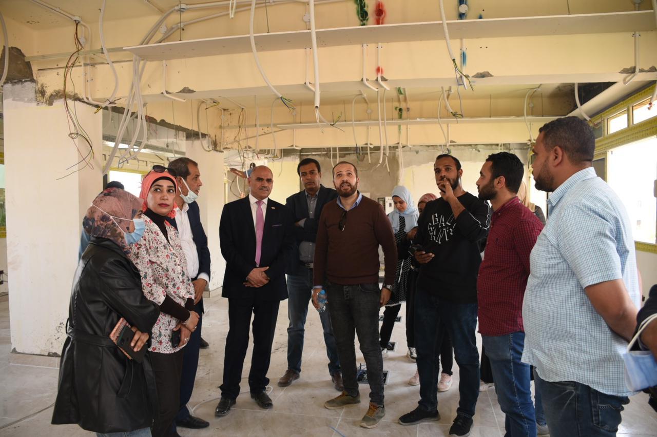 تجهيزات الكليات الجديدة بمدينة طيبة
