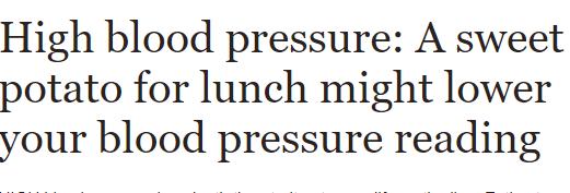فوائد البطاطا الحلوة على ضغط الدم
