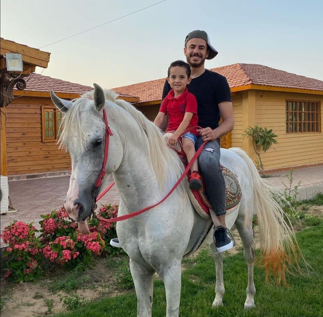 الونش مع ابنه