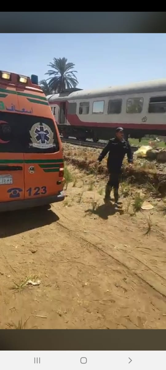 حادث تصادم قطارين بسوهاج