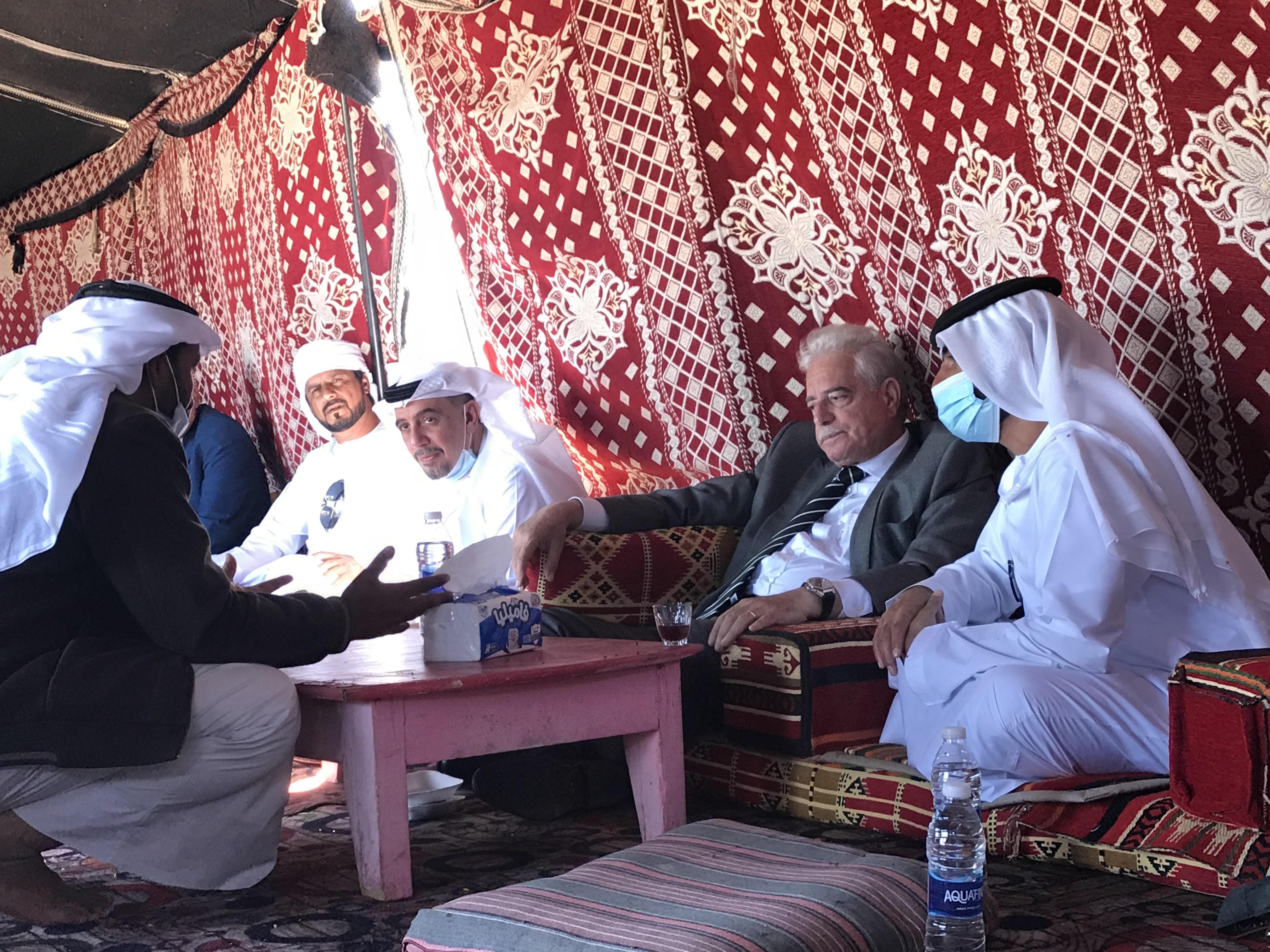 الوفد الاماراتى ومحافظ جنوب سيناء