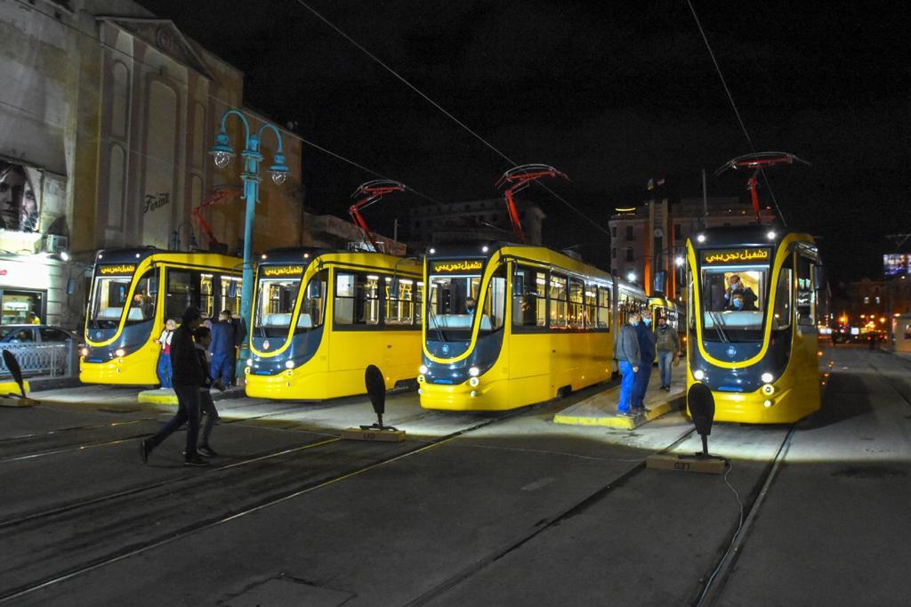 تشغيل 7 عربات ترام أوكرانية جديدة بالإسكندرية (6)