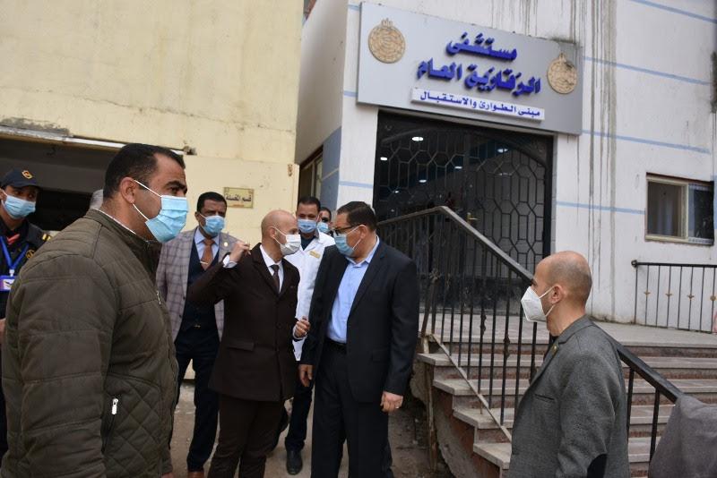 جولة محافظ الشرقية ووكيل وزارة الصحة بمستشفى الزقازيق العام