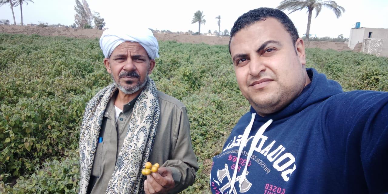 محرر اليوم السابع مع مزارع حرنكش
