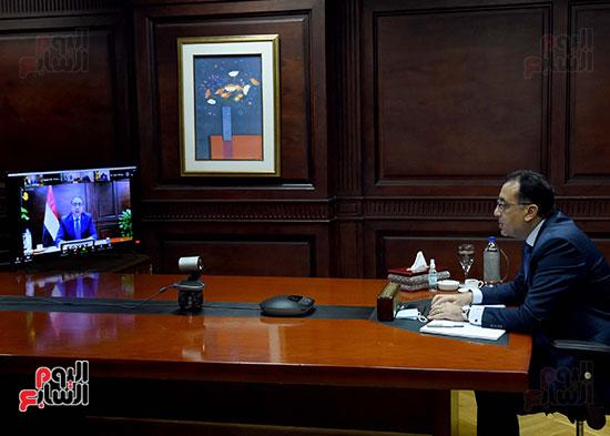 رئيس الوزراء يُلقي كلمة نيابة عن الرئيس السيسي حول متابعة تنفيذ استراتيجية م (3)