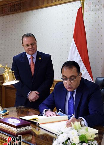 رئيس الوزراء يُلقي كلمة نيابة عن الرئيس السيسي حول متابعة تنفيذ استراتيجية موا (1)