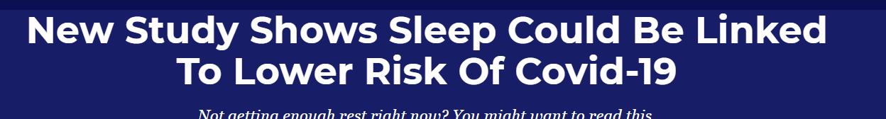 النوم وفيروس كورونا