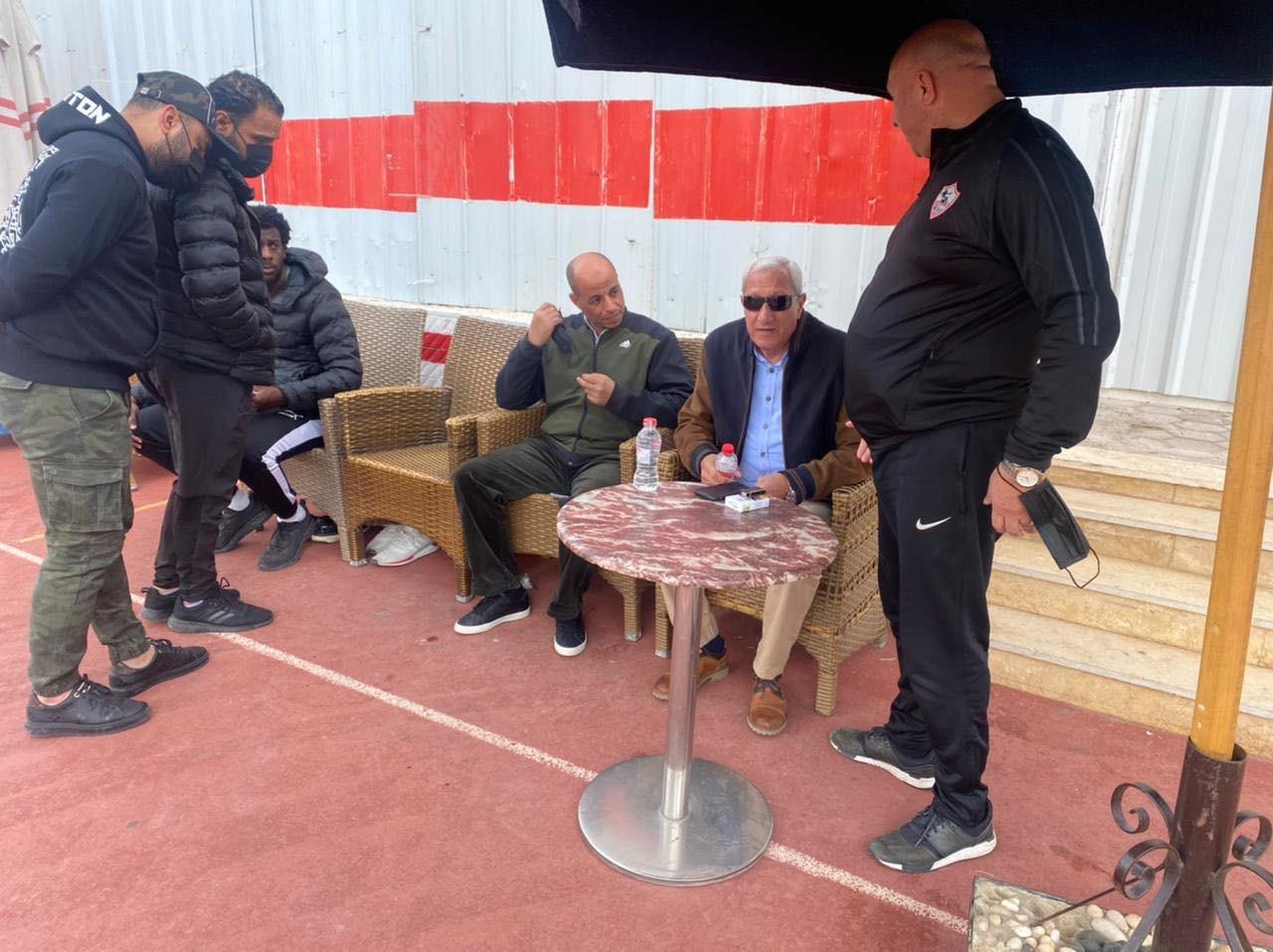 President of Zamalek in the training