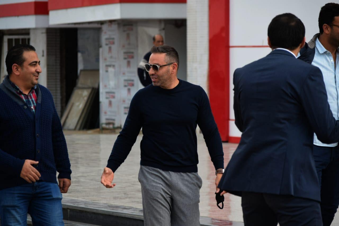 Hazem in front of the former star Zamalek