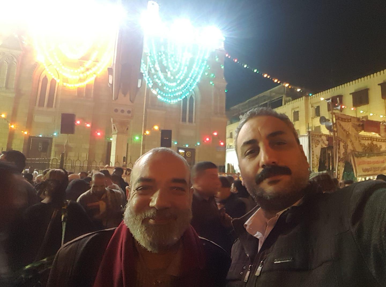 الشيخ اشرف الغامرى خلال الاحتفال بمولد الحسين