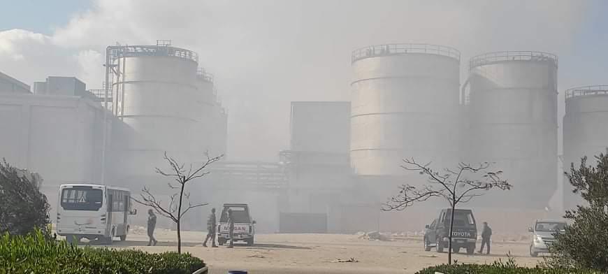 حريق مصنع الكرتون (2)