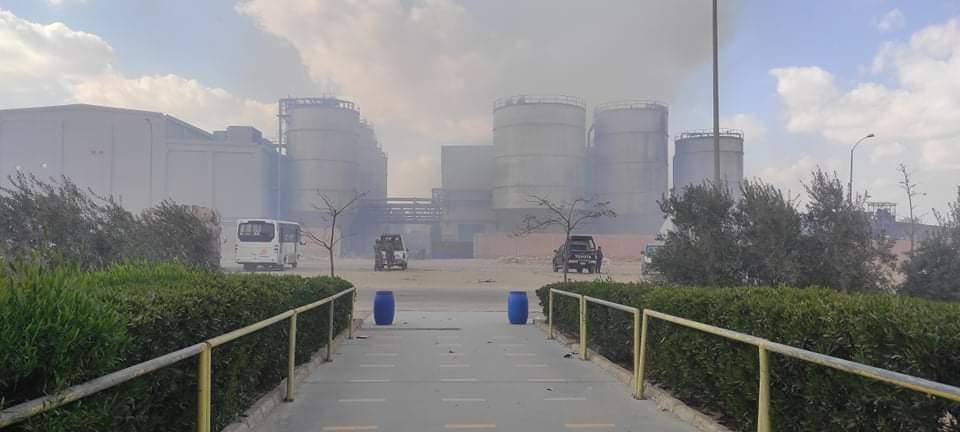 حريق مصنع الكرتون (3)