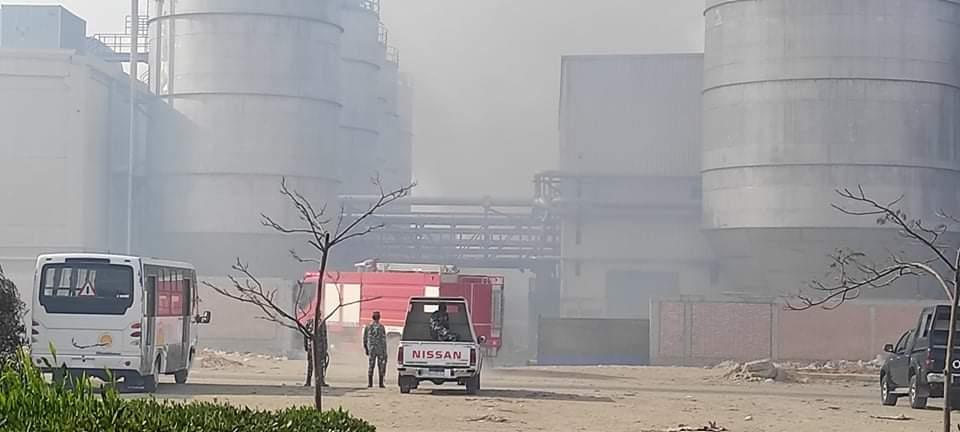 حريق مصنع الكرتون (1)