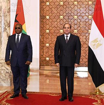 الرئيس عبد الفتاح السيسي وعمر سيسوكو إمبالو رئيس جمهورية غينيا بيساو