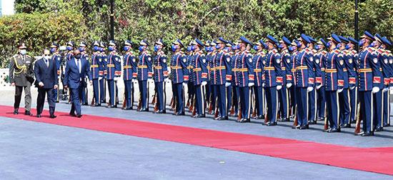 مراسم استقبال  رئيس جمهورية غينيا بيساو بقصر الاتحادية