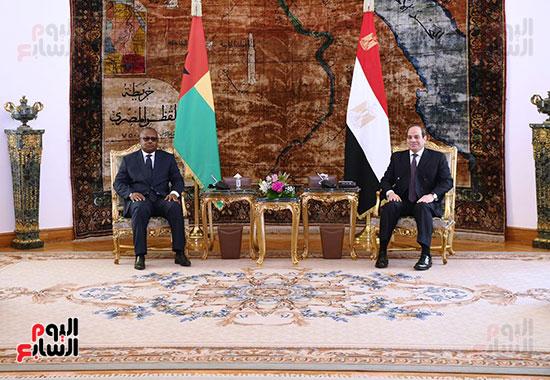 الرئيس السيسي وعمر سيسوكو إمبالو رئيس جمهورية غينيا بيساو
