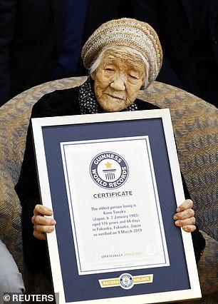 تحمل كين تاناكا الرقم القياسي العالمي لموسوعة غينيس كا اكبر معمرة