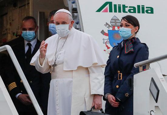 البابا فرنسيس يسافر إلى العراق