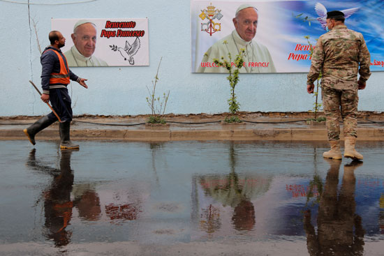 يستعد العراق لاستقبال البابا فرنسيس في النجف