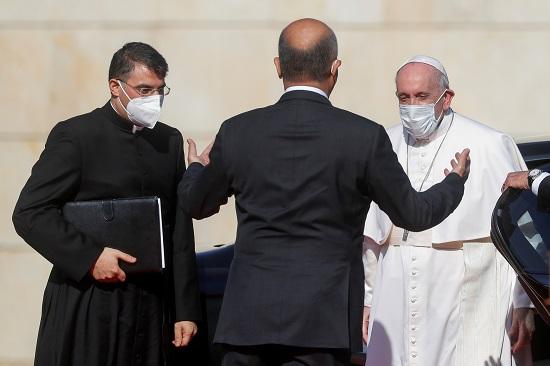 استقبال الرئيس العراقى برهم صالح للبابا فرنسيس