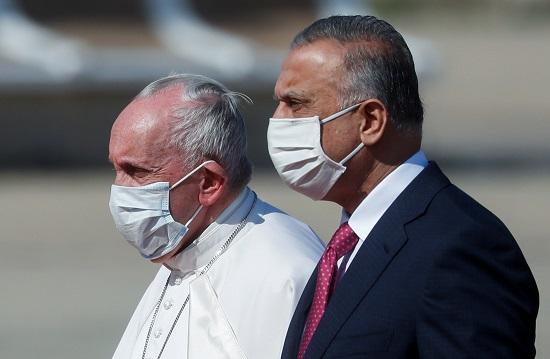 مصطفى الكاظمى والبابا فرنسيس