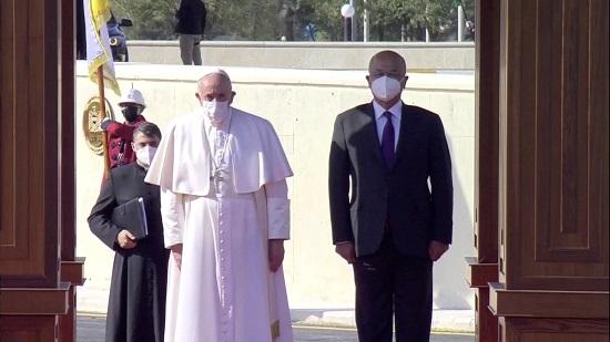 الرئيس العراقى يستقبل البابا فرنسيس