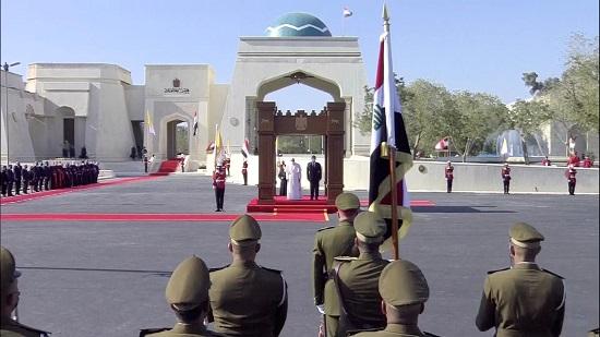 استقبال البابا فرنسيس فى قصر بغداد