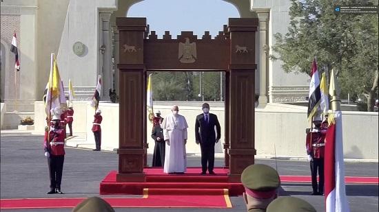 البابا فرنسيس وبرهم صالح