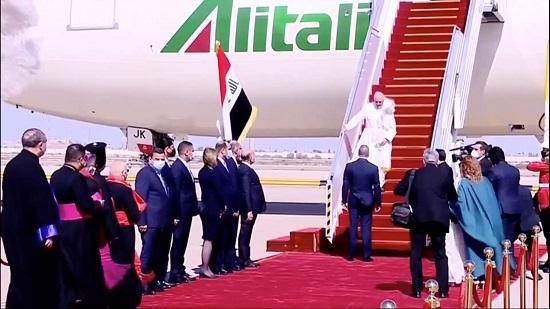 استقبال البابا فرنسيس فى بغداد
