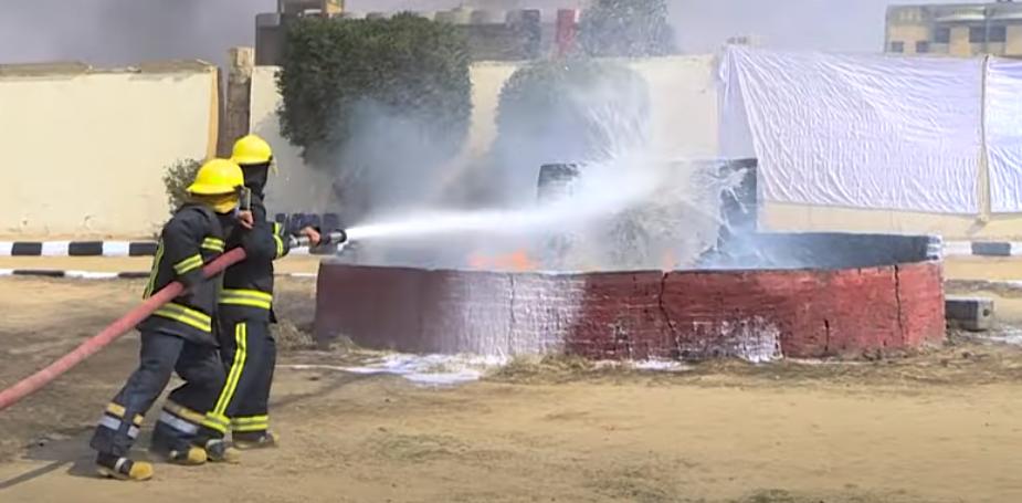 بيانات عملية للشرطة النسائية على الاطفاء