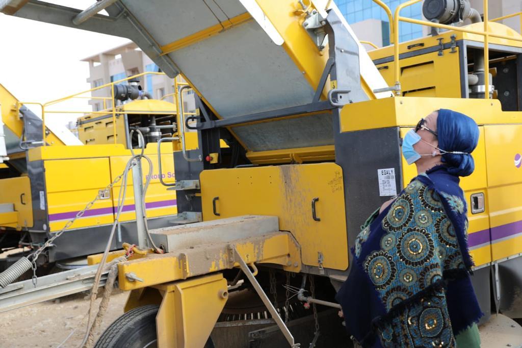 معدات النظافة بالعاصمة الإدارية الجديدة