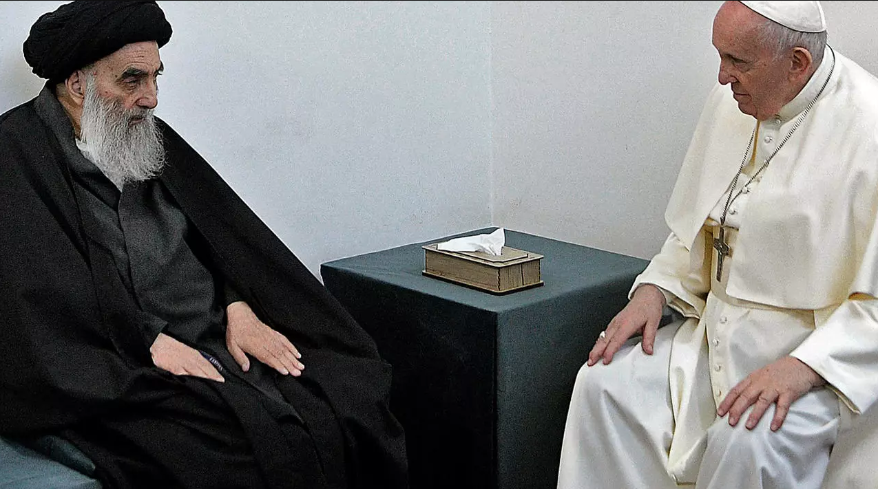 """After meeting Pope Francis and Sistani """"Al-Kazemi"""" sets March 6 as a national day for tolerance and coexistence in Iraq 1444664-%D8%A8%D8%A7%D8%A8%D8%A7-%D8%A7%D9%84%D9%81%D8%A7%D8%AA%D9%8A%D9%83%D8%A7%D9%86-%D9%88%D8%A7%D9%84%D8%B3%D9%8A%D8%B3%D8%AA%D8%A7%D9%86%D9%89"""