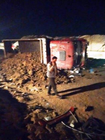 حادث تصادم على الصحراوى الشرقى