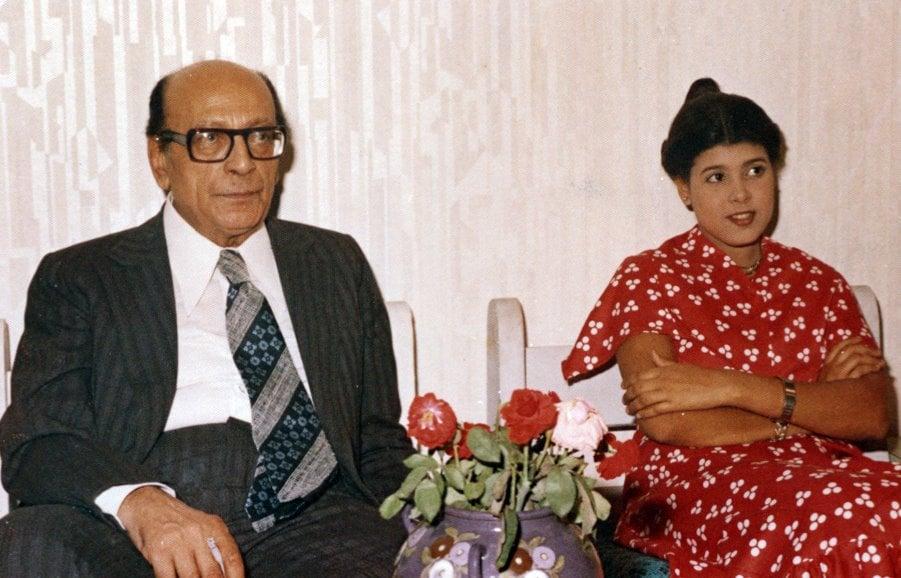 سوسن ربيع مع محمود المليجى