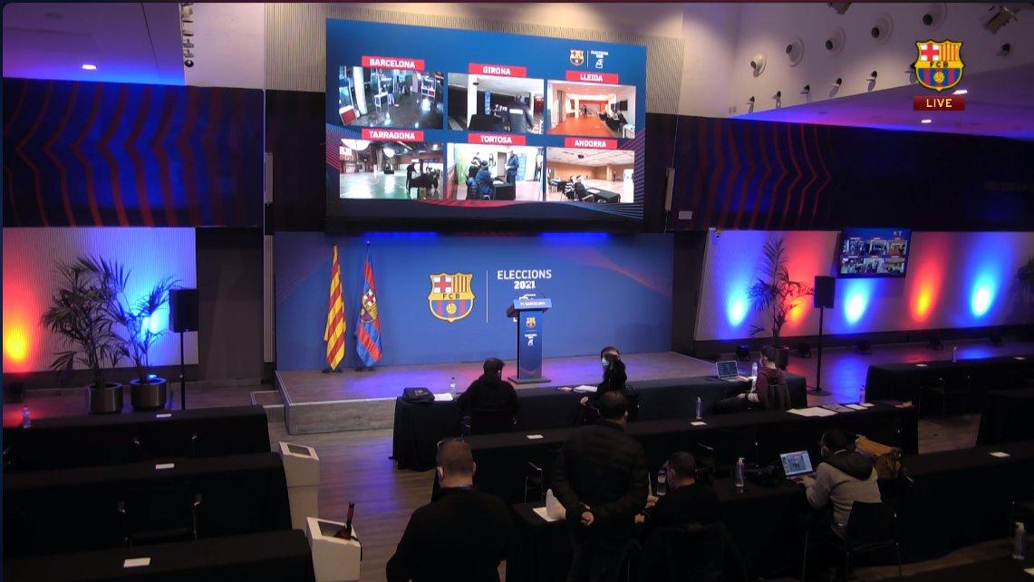 غرفة عمليات إنتخابات برشلونة