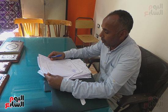 عاطف محمد السيد رئيس مجلس قروى المنشية بكوم أمبو
