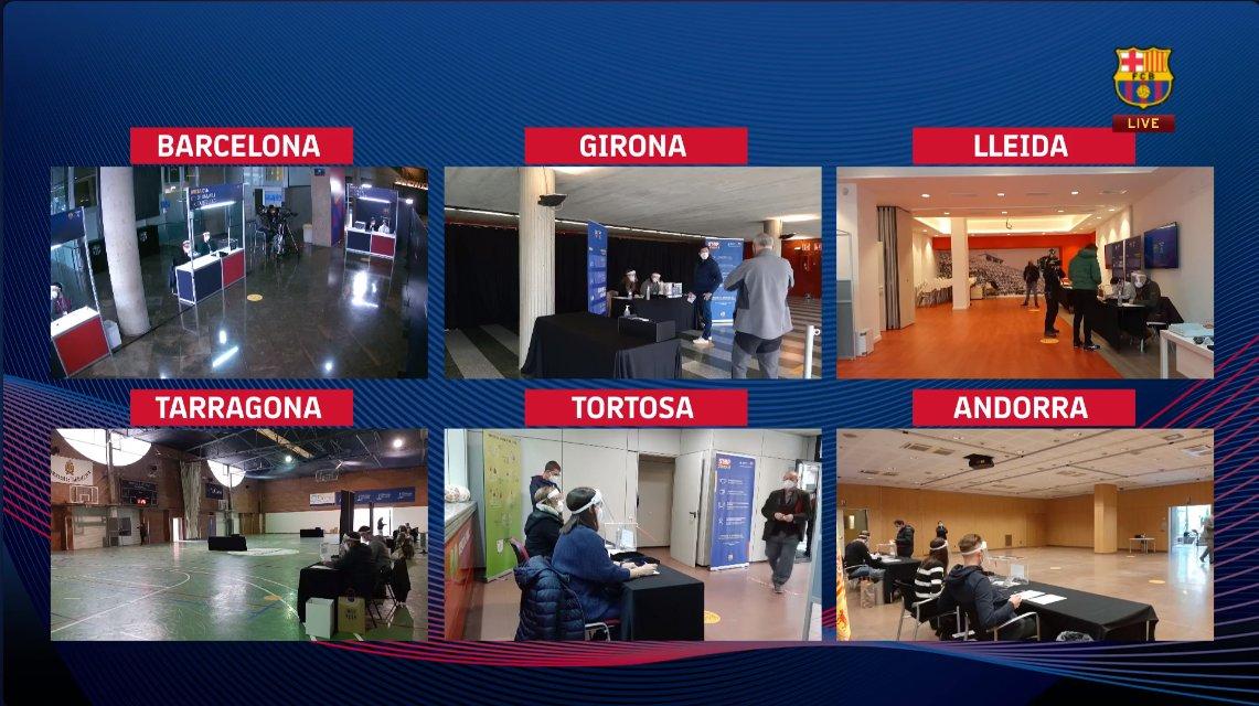 المدن التى تستضيف إنتخابات برشلونة