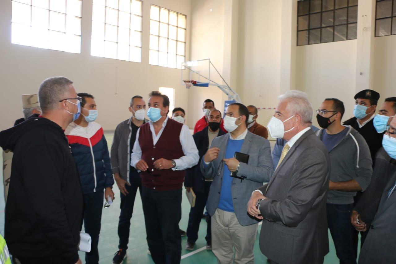 وزير التعليم العالى يتفقد جامعة الملك سلمان