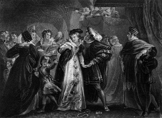 لوحة فنية للملك هنرى وأن