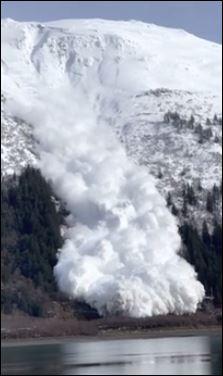 انهيار جليدى فى آلاسكا (5)