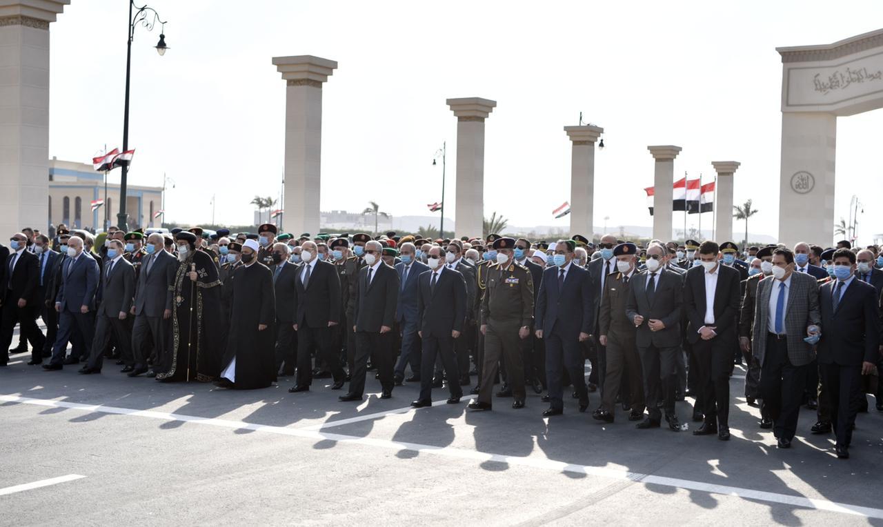 الجنازة العسكرية للراحل كمال الجنزورى
