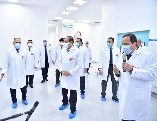 افتتاح مدينة الأدوية المقامة داخل منطقة الخانكة في محافظة القليوبية (8)