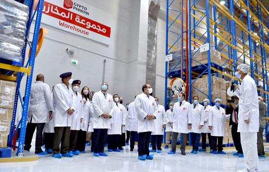 افتتاح مدينة الأدوية المقامة داخل منطقة الخانكة في محافظة القليوبية (3)