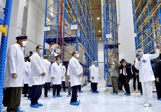 افتتاح مدينة الأدوية المقامة داخل منطقة الخانكة في محافظة القليوبية (11)