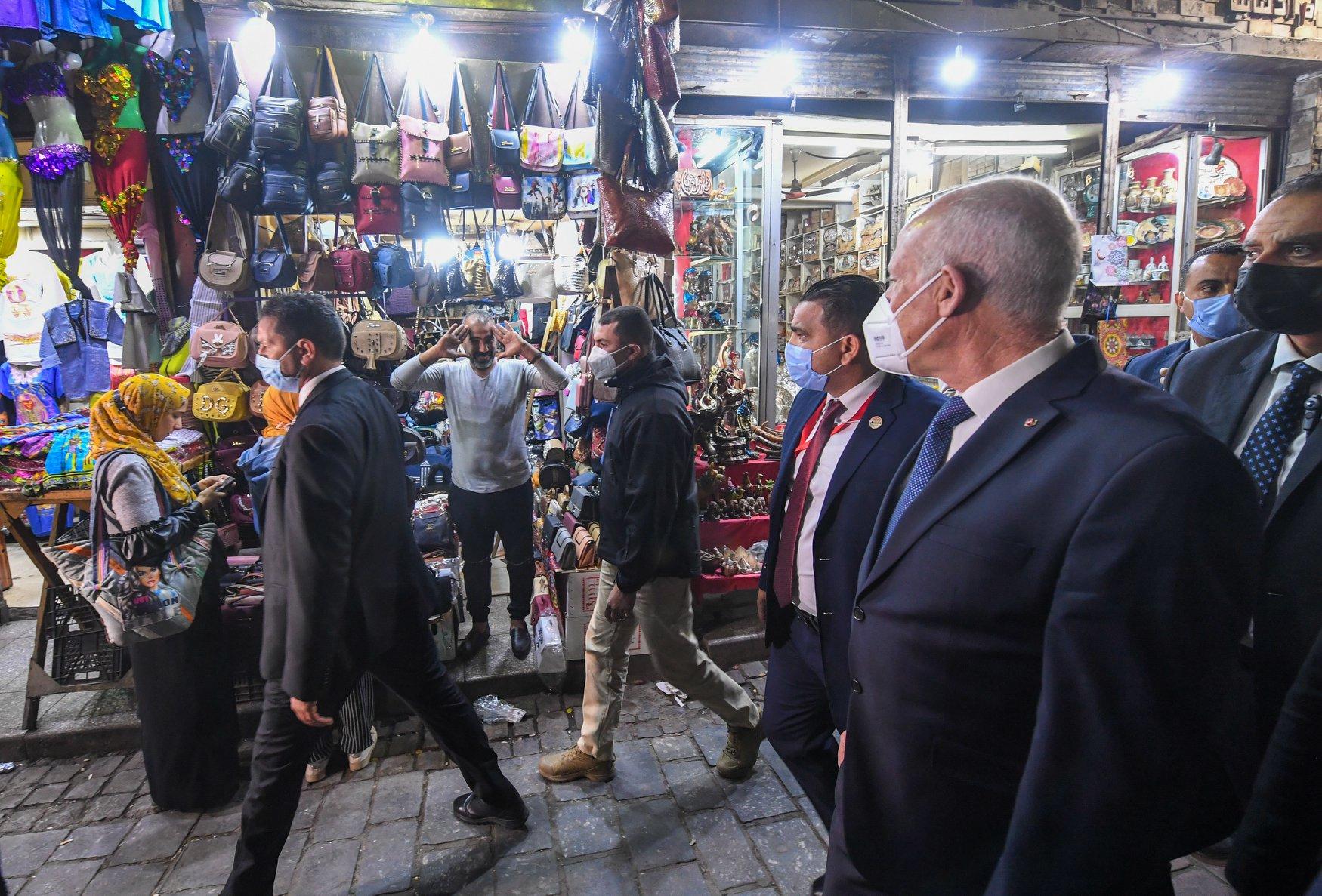 الرئيس التونسى فى شارع المعز (1)