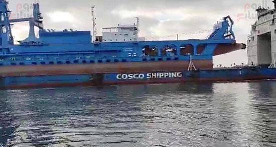 الكراكة مهاب مميش تنضم لأسطول قناة السويس (2)
