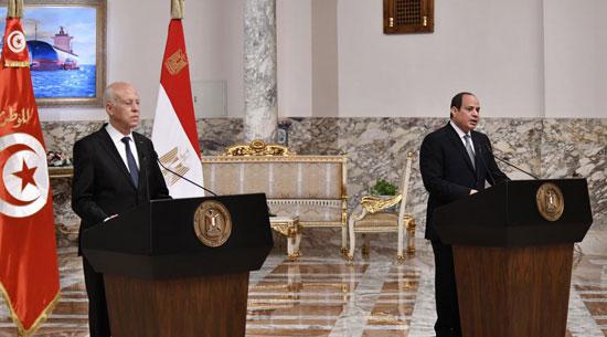 القمة المصرية التونسية (4)